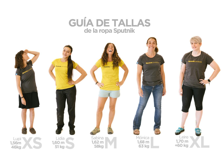 Guia de tallas camisetas Sputnik chica