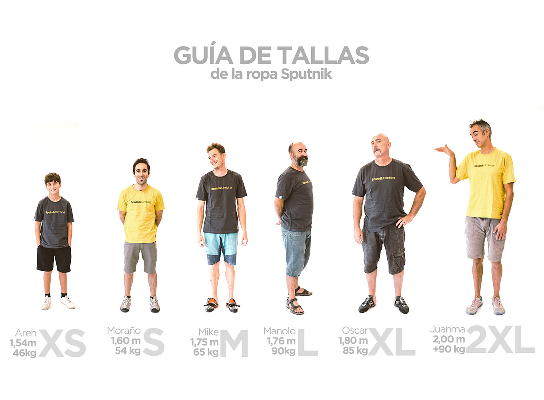 Guia de tallas de camisetas Sputnik chicos
